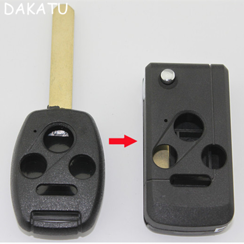 dakatu   panic  button remote case flip folding remote key shell cover fit  honda accord