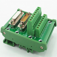 DB15 D-sub Montagem Em Trilho DIN Módulo de Interface  masculino/Feminino  Bordo de fuga.