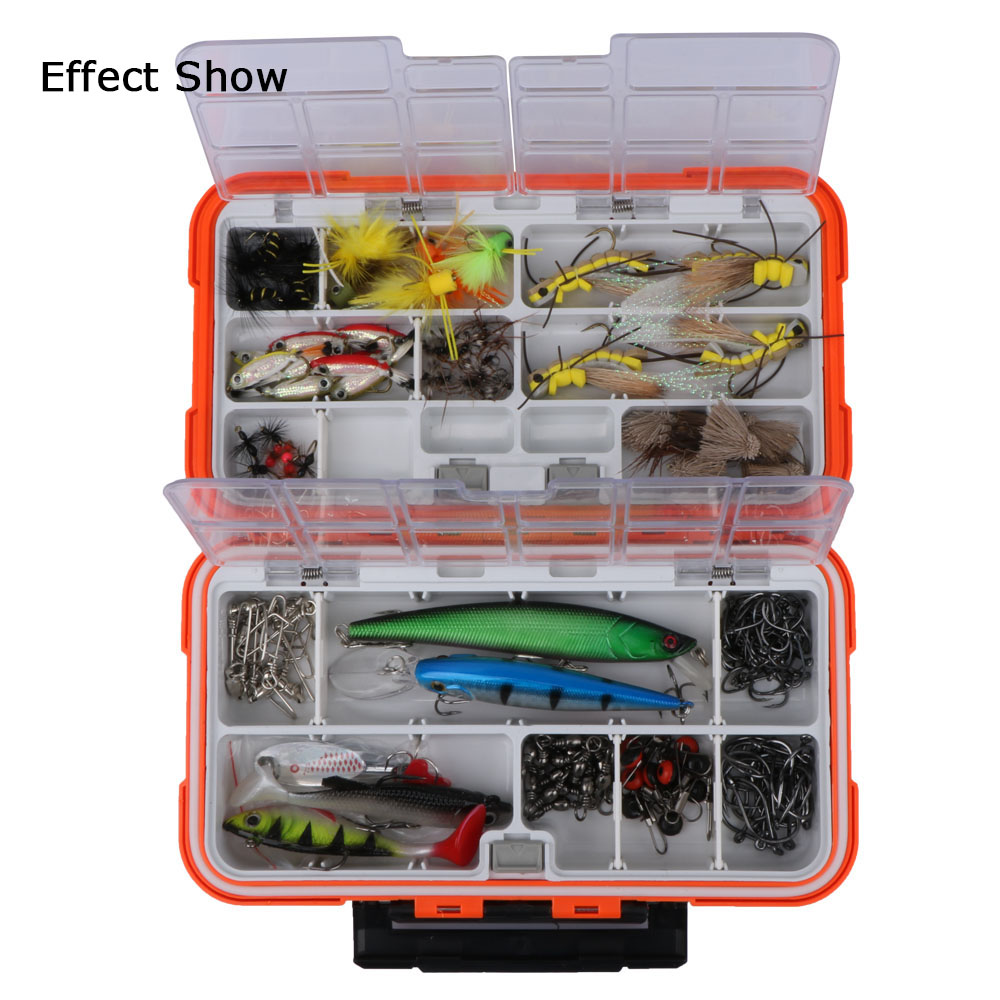 Goture double layer hard plastic fishing box for baits or for Fishing tackle box