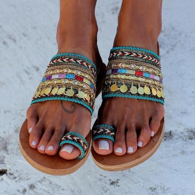 Handmade Boho Flat Sandals