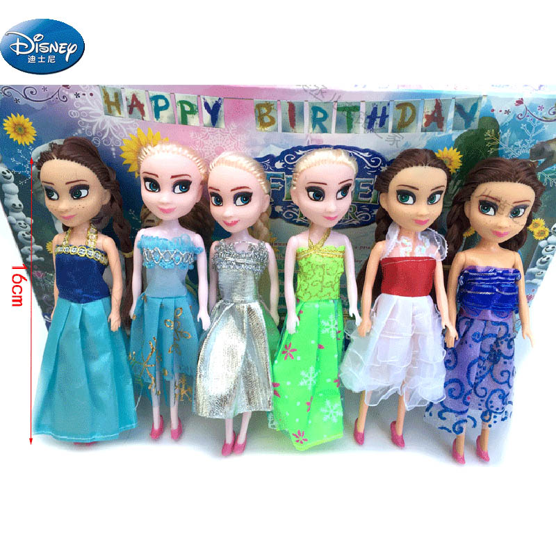 Knowledgeable 6 Pcs/set Frozen Princess Anna And Elsa Action Doll Girl Disney Mini Birthday Toy Figures About 16 Cm Activating Blood Circulation And Strengthening Sinews And Bones Action & Toy Figures