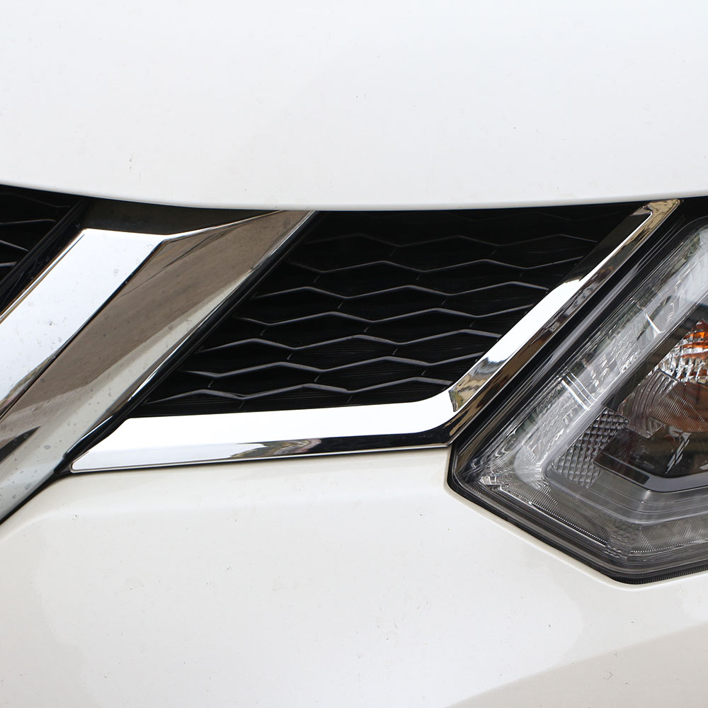 Carmilla Chrome Front Grille Dekorace Cover Trim Sticker pro Nissan X-trail X Trail Xtrail Rogue T32 2013 - 2016 Příslušenství