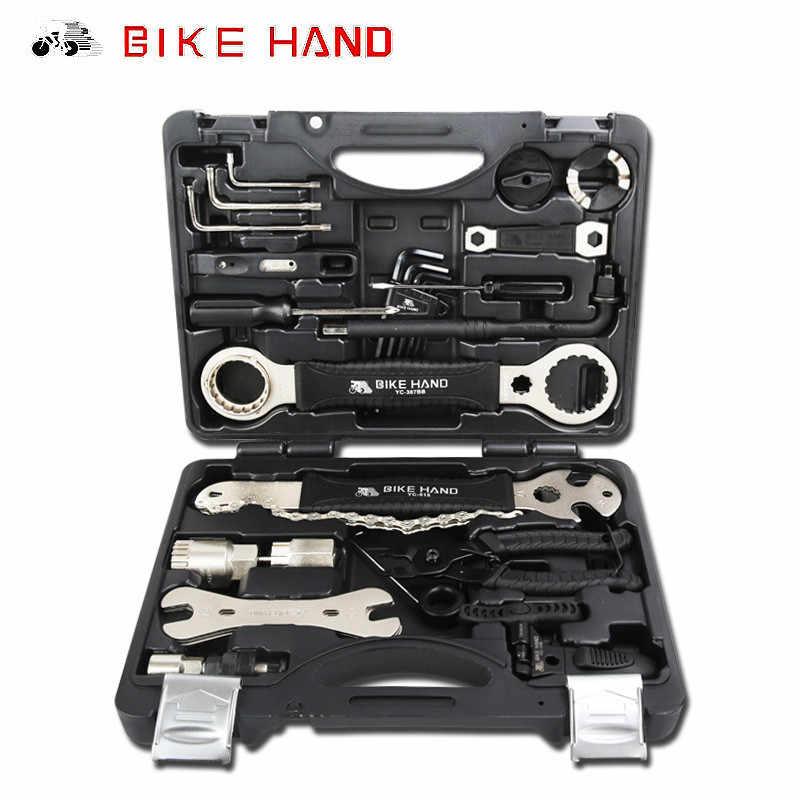 Outils de réparation de vélo BikeHand 18 en 1 Kit Portable en acier multifonction outil de vélo professionnel route vtt vélo YC-721