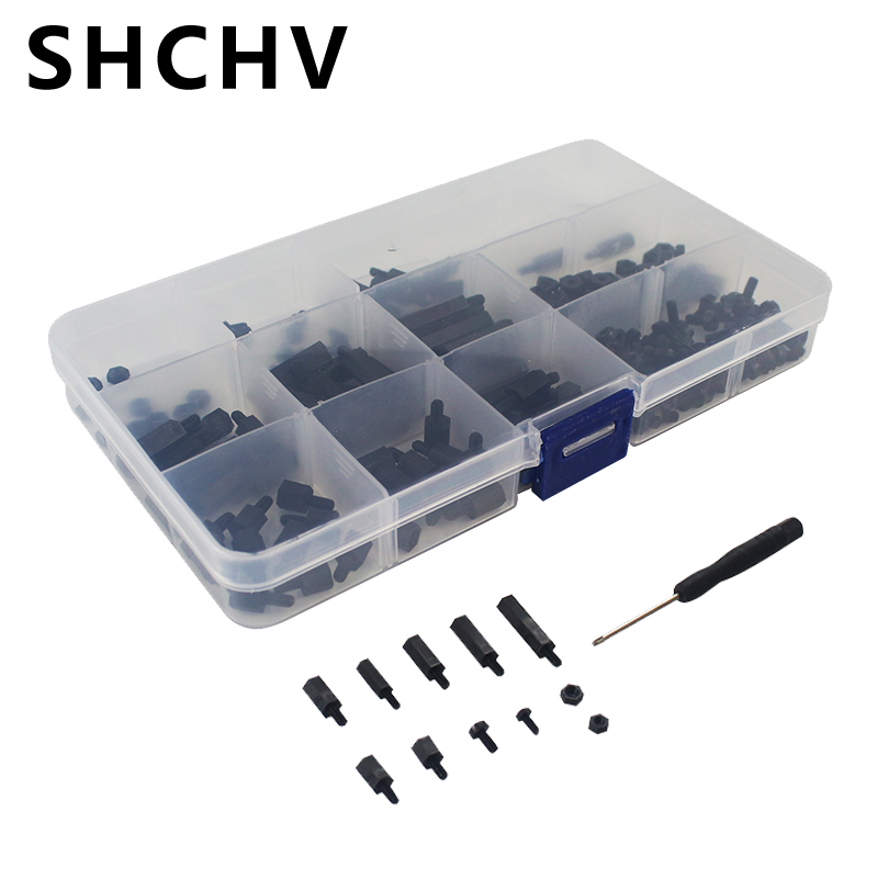 New Arrival Nylon Screws Kit 210pcs/lot Screws Nut Standoffs Spacers With Screwdriver For Raspberry Pi 3/Circuit Extension Board