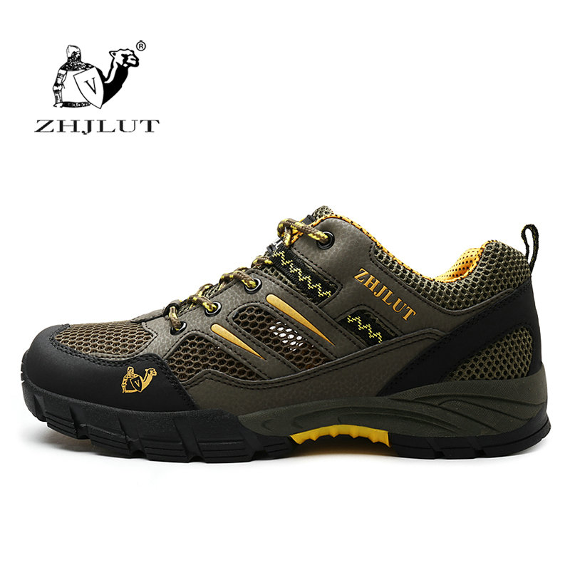 ZHJLUT Men Hiking Sneakers Breathable Mesh Sport Men Women Hiking Shoes Men Athletic Sport Outdoor Shoes Climbing Hunting Shoes цена
