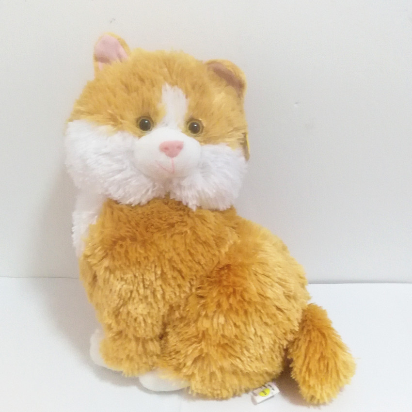 Russian Language Plush Orange Cat Talking Singing Song Doll