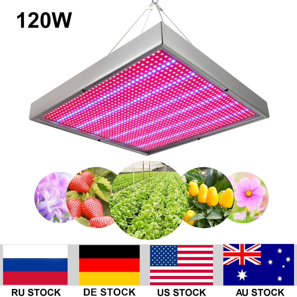 120W Growing Lamp Red Blue 1365Leds AC85 265V LED Grow Light for Flowering Plant Aquarium Hydroponics System