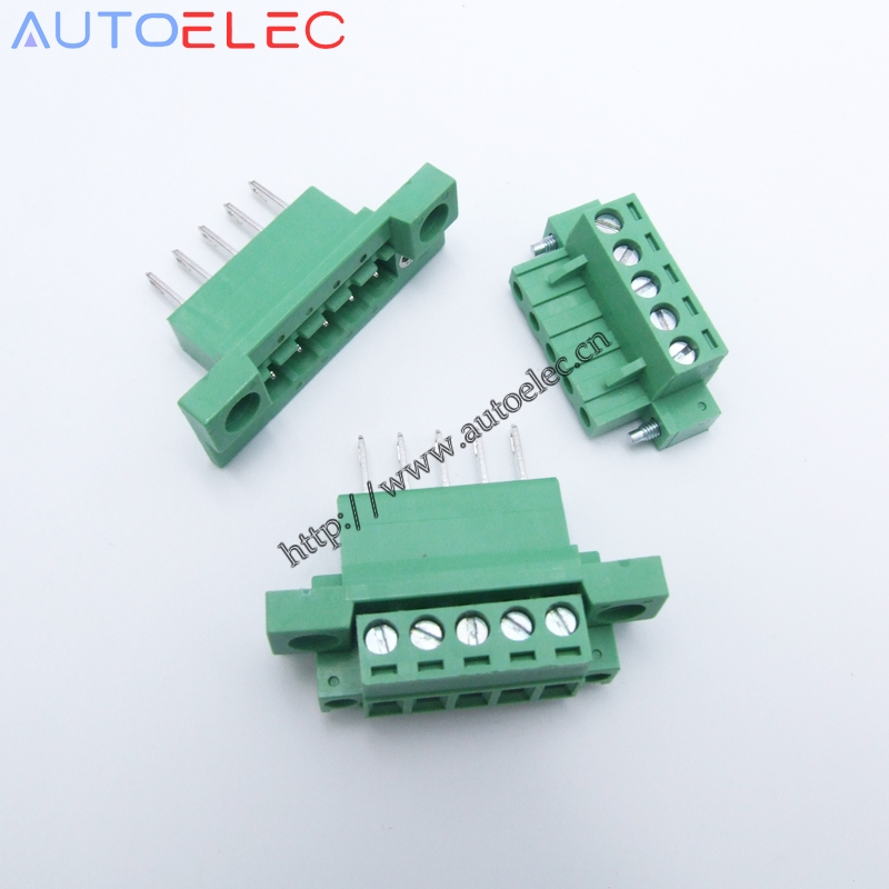 5poles Plug in Terminal Blocks PCB Connector Panel 5 08mm pitch male female straight pin With