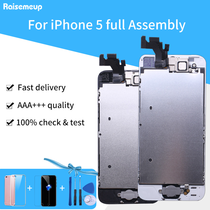 For IPhone 5 A1428 A1429 A1442 LCD Full Assembly Complete Set Display Replacement Touch Screen Digitizer Panel Parts AAAA LCD