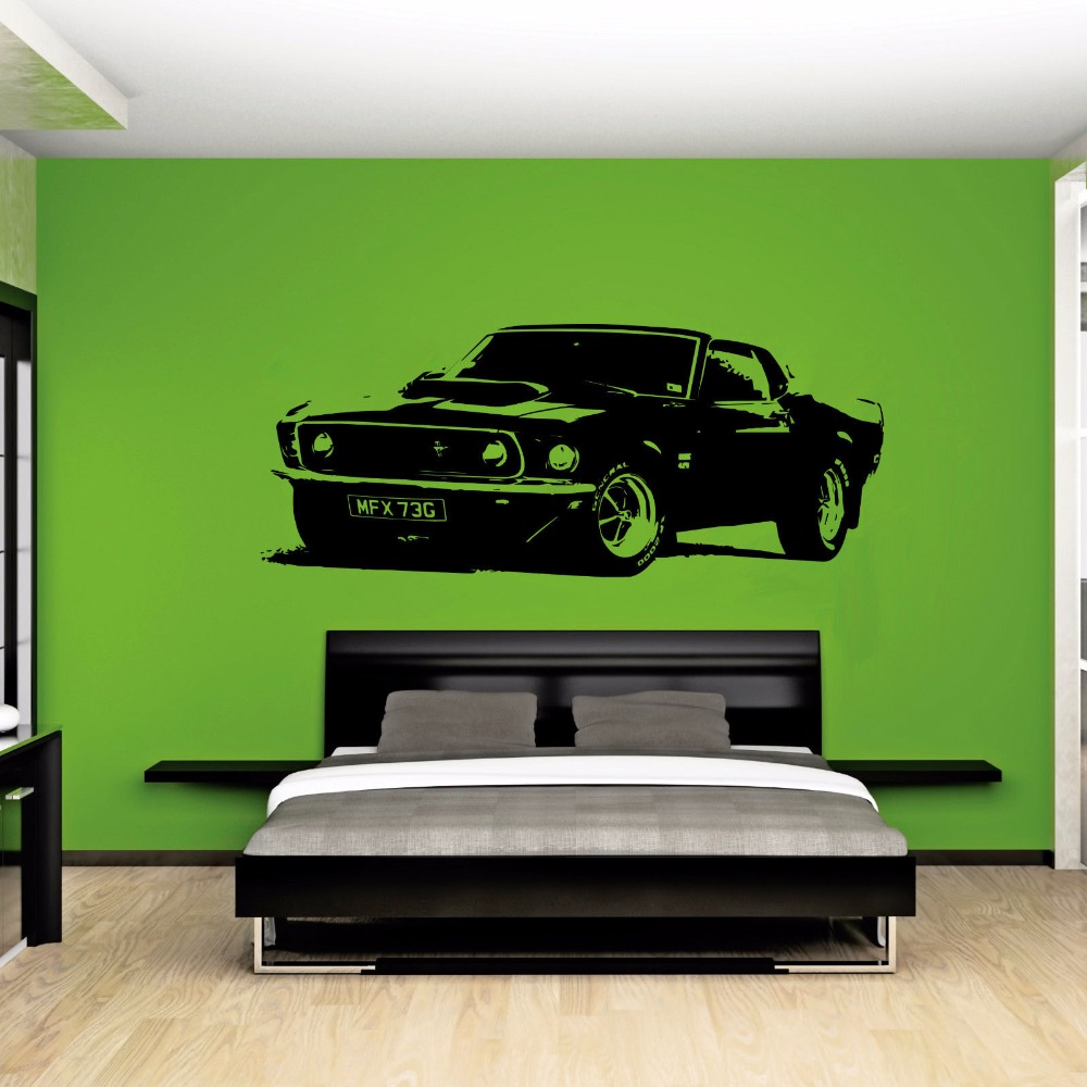 Car decal designer online - Large Car Sticker For Ford Mustang 1969 Muscle Classic Wall Art Decal Removable Vinyl Transfer Stencil