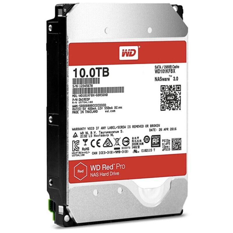 Image 2 - WD RED Pro 10 ТБ дисковая сетевая память 3,5 ''NAS жесткий диск красный диск 10 ТБ 7200 RPM 256 M кэш SATA3 HDD 6 ГБ/сек.