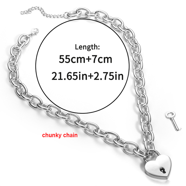 Lover Heart Lock Necklace...