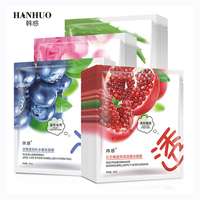 HanHuo Fresh Aloe Vera Blueberries Red Rose Silk Facial Mask for Face Mask Skin Care Moisturizing Oil Control Nourishing Face Mask & Treatments