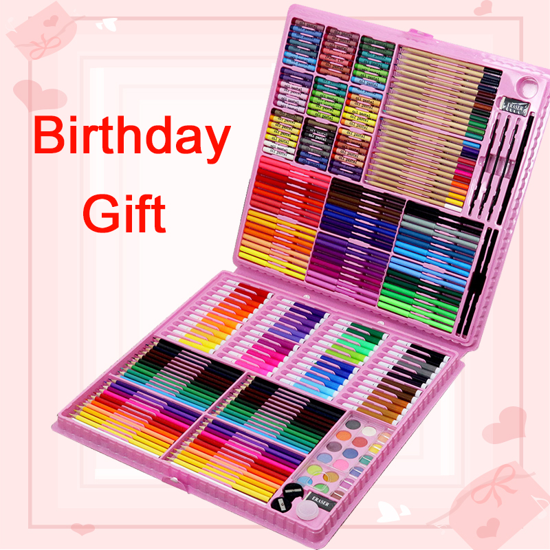 176/288pcs Art Sets Watercolor Children Painting Drawing Tools Art Marker Brush Pen Supplies Kids For Gift Box Office Stationery