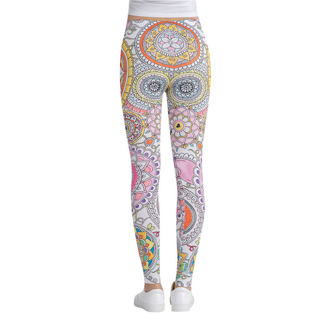 Women's Elastic Leggings for Fitness and Workout with Beautiful Prints