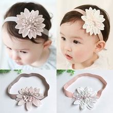 Korean version of the new childrens hair headdress female baby band lace flower