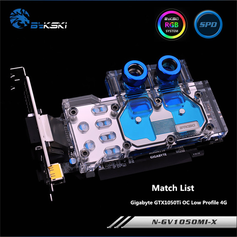Здесь продается  Bykski Full Coverage GPU Water Block For Gigabyte GTX1050Ti OC Low Profile 4G Knife card Graphics Card N-GV1050MI-X  Компьютер & сеть