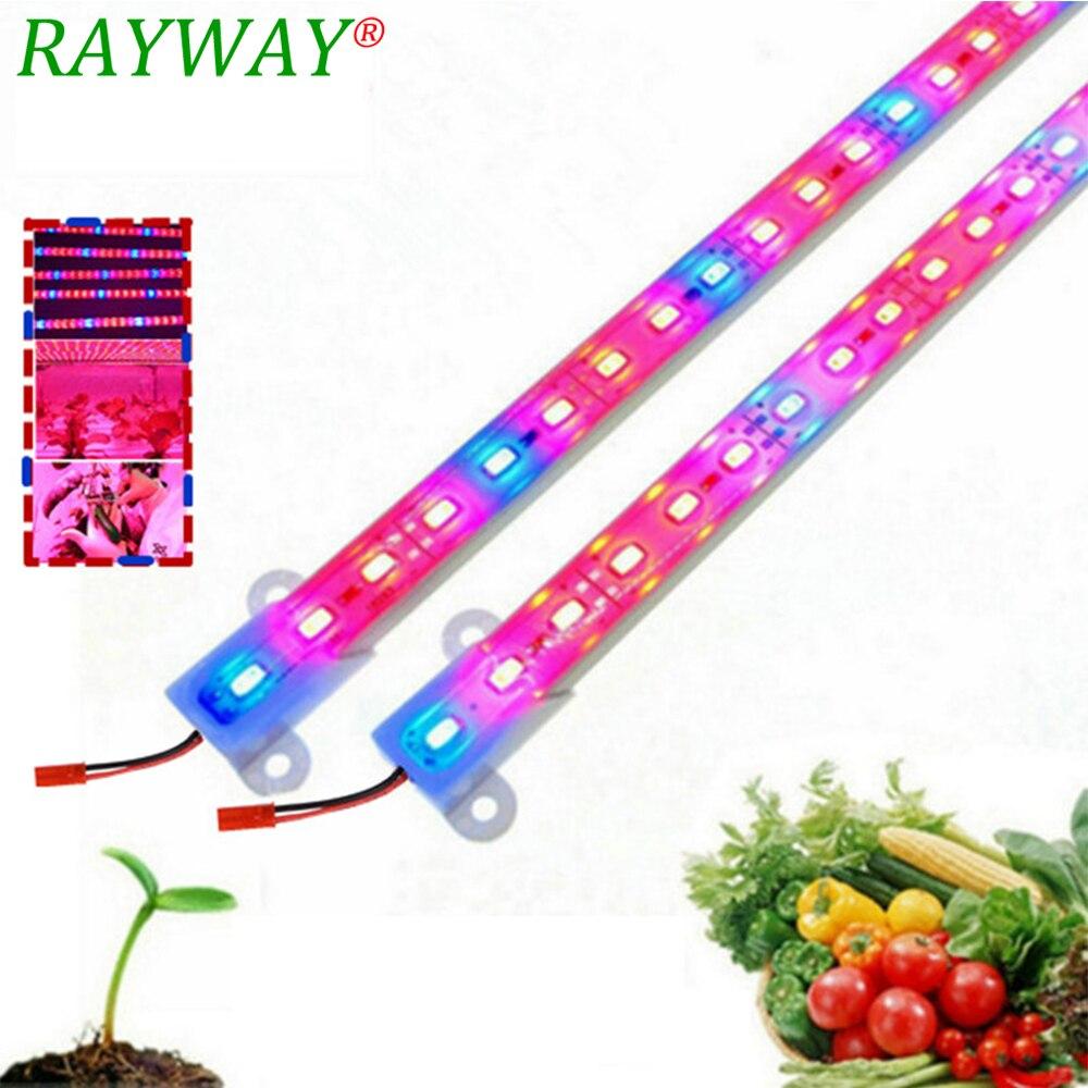 RAYWAY led Élèvent la lumière Phyto Lampe DC12V étanche semis aquarium croître Led 5730 Usine à spectre complet ampoule led pour les plantes 5/lot