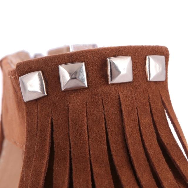 REAVE CAT Big size 34-43 New arrival Fashion Tassel flat Sandals for women Flip-flops and women summer shoes Black Tassel RL1006