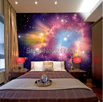 Custom 3D stereoscopic cosmic nebula wallpaper mural room Ceiling background space for home decor vinyl wallpaper wallpaper custom baby wallpaper snow white and the seven dwarfs bedroom for the children s room mural backdrop stereoscopic 3d