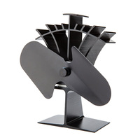 Fast Starting By Low Temp 50C 122F Heat Powered Stove Top Fan With 17 Fuel Saving