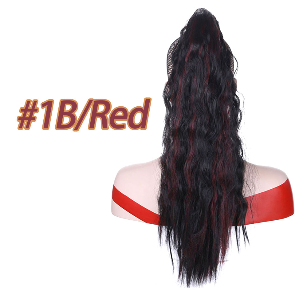 AOSIWIG High Temperature Fiber Hairpiece 22 140g Long Curly Claw Ponytail Synthetic Hair Extensions For Women Girls Ladies