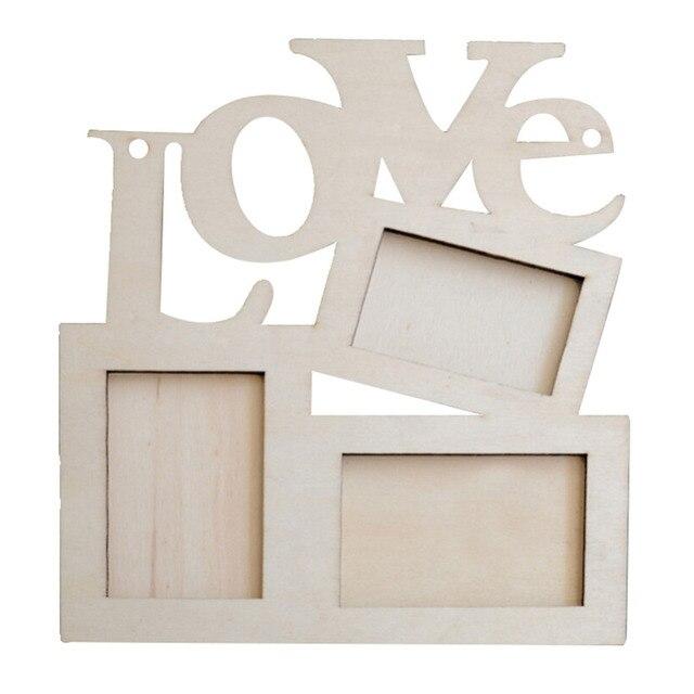 Mini Love Wooden Family Frame Photo Wood Picture Frame Rahmen White ...