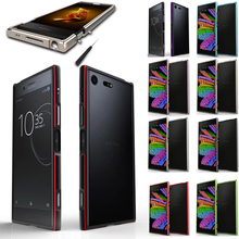 Aluminum Metal Bumper Frame For Sony Xperia XA1 Plus Case Luxury Shockproof Shield Dual Color Case for Sony Xa1 plus XA1+ Cover недорого