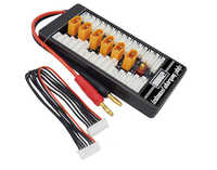 1 Uds HotRc alta calidad 2 S-6 S XT60 enchufe Placa de carga paralela Para tablero XT60 enchufe 4,0 MM Bananer Para Imax B6 B6AC B8 6 en 1