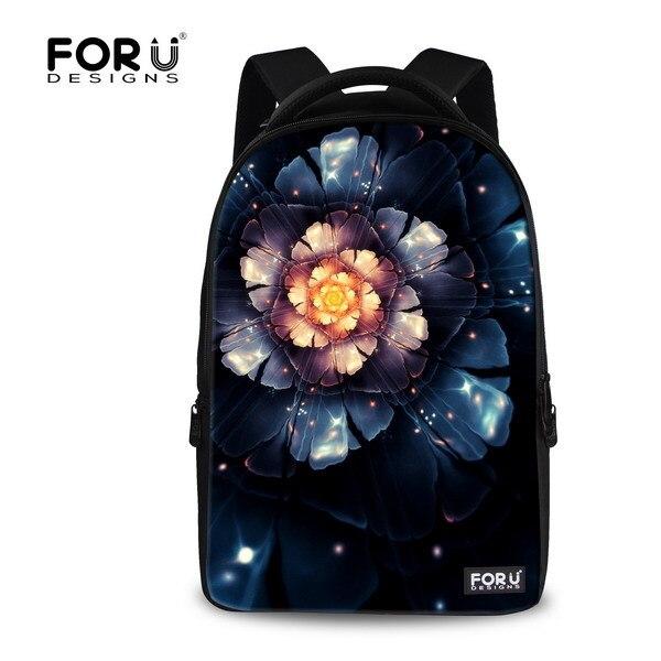 ФОТО 2017 hot sale men's travel bag children school bags 3D print floral backpack for teenager boys black kids flower bag red mochila