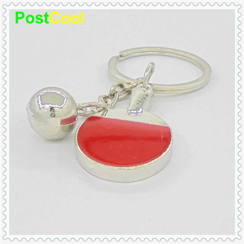 Fashion Jewelry Sports Instruments Hanging ornaments Table tennis/Football/Badminton keyfob/Keyrings/keyholder/Car keys DIY DAE