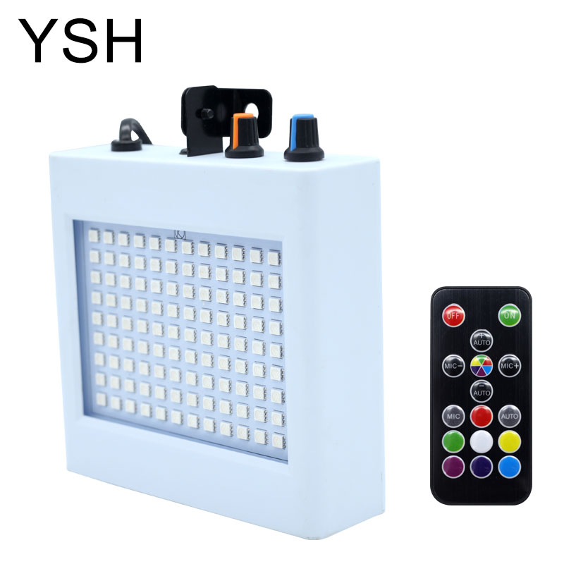 108 LED Mixed Flashing Stage Lights Remote Sound Activated Disco Lights For Festival Parties Lights Wedding KTV Strobe Lights(China)