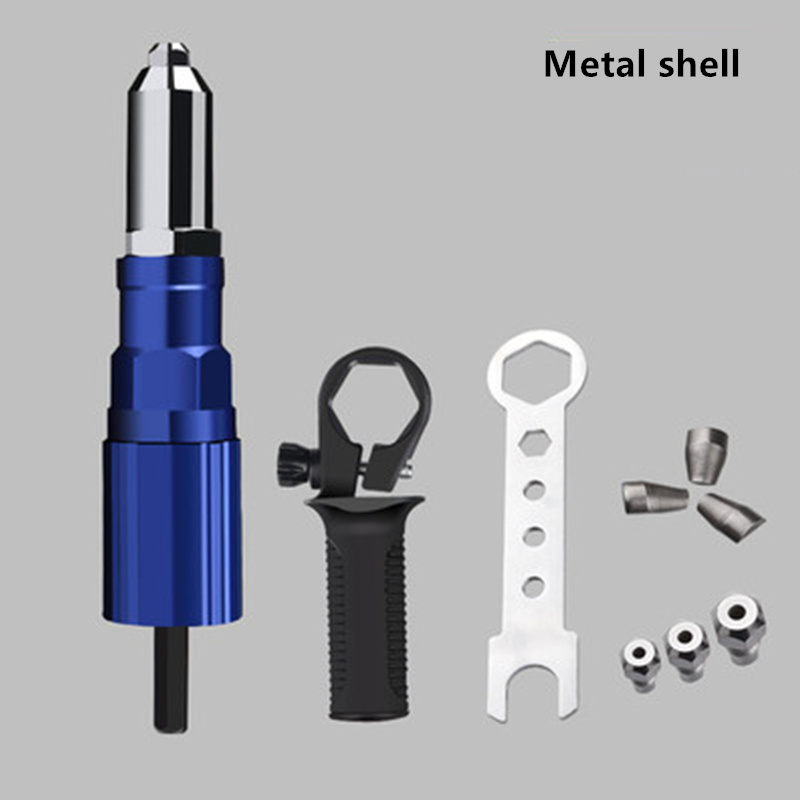 Upgrade Electric Rivet Gun Adapter Head Electric Drill Rivet Gun Head Blind Rivet Machine