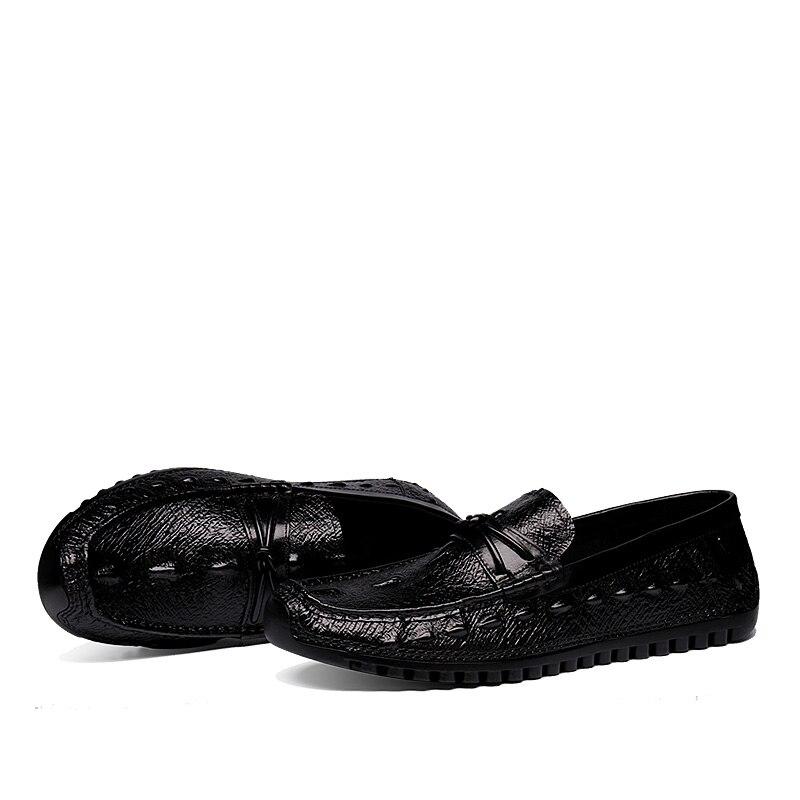 Véritable Cuir Hommes Solide Zapatos hombre on marron Mocassins Respirant Slip Chaude En Marque Heinrich Chaussures Vente Noir wqY4tItR