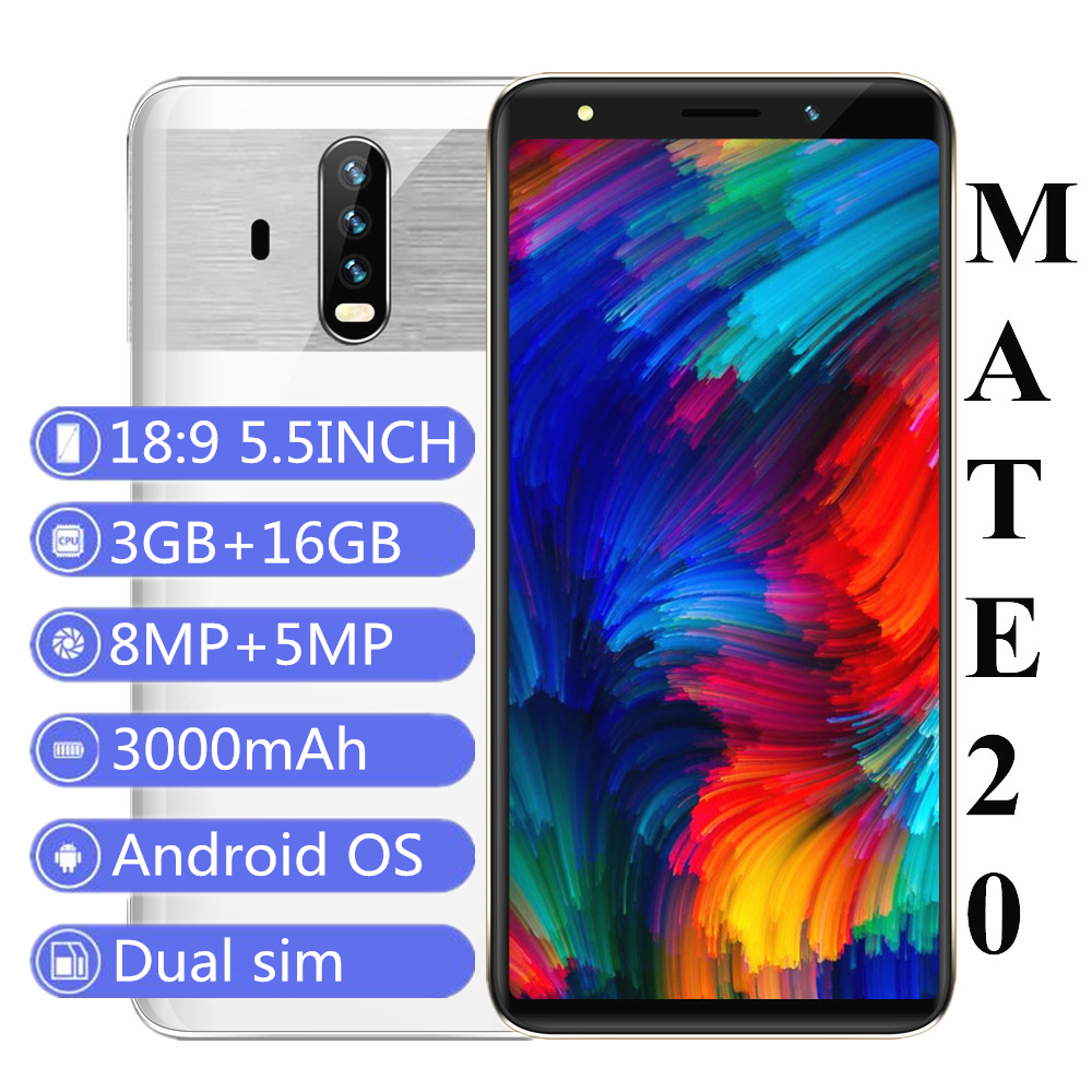 Bylynd 16gb 3gb GSM/WCDMA/S Adaptive Fast Charge Quad Core 8MP New Smartphones 5mp-Camera