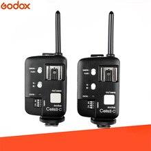 GODOX Cells II-C комплект беспроводной вспышки Speedlite триггер приемопередатчик для Canon 6D 7D 5D Mark II 5D Mark III 60D 70D 650D