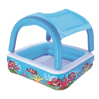 Kids Children Sunshade Inflatable Swimming Pool Thickening Novelty Pool (Blue)