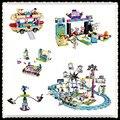 LEPIN 01008 01007 01006 01009 Kits de Bloques de Construcción Bloques de Los Amigos de la Montaña Rusa del Parque de Atracciones BricksToys 41130
