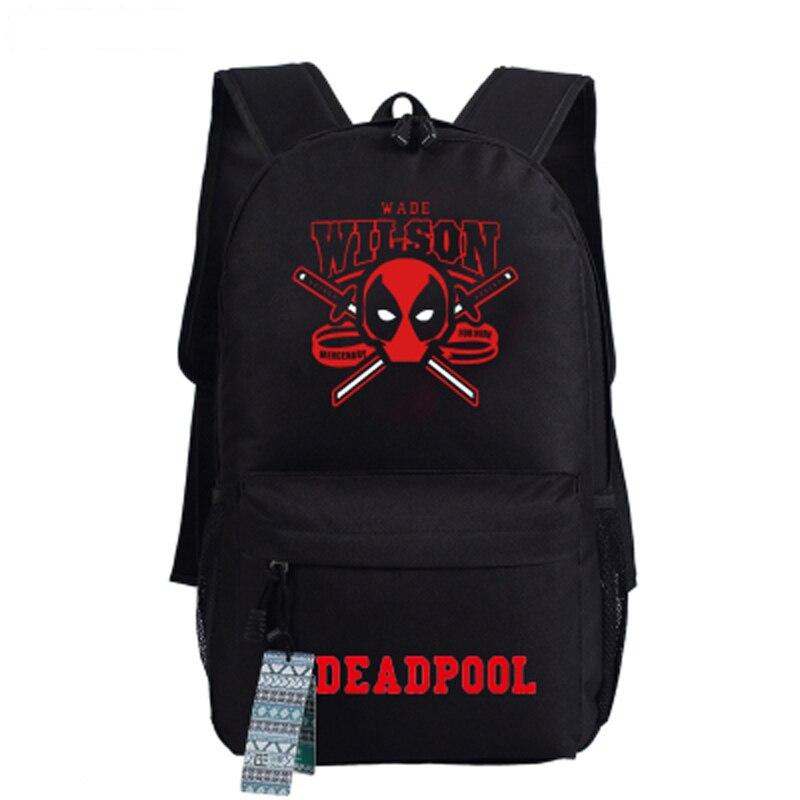 Deadpool Backpack Comics Superheros Shoulder School Teenagers Canvas Backpack Travel Rucksack Mochila