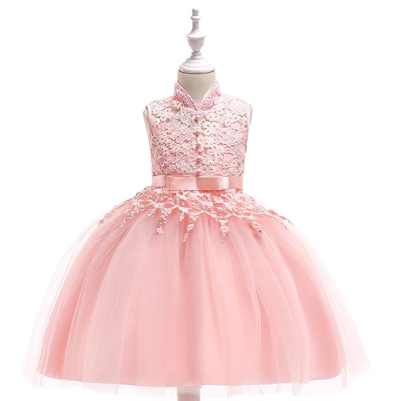 Wholesale Children Girl Flower Party Dresses Kids Girl Ball Gown Wedding Dress Girl Lace Dress Free