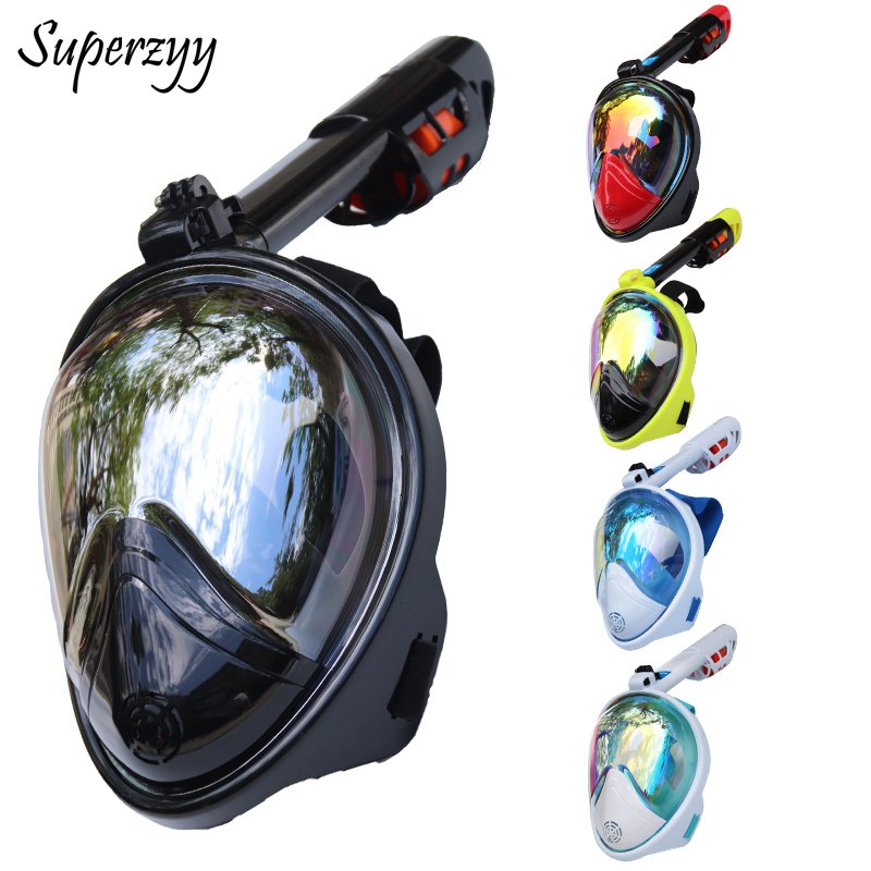 Diving Mask Full Face Anti-fog Snorkeling Mask Underwater Scuba Spearfishing Mask Children/Adult Glasses Training Dive Equipment