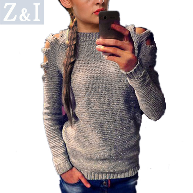 Z&I Women Sweater Winter Autumn Cloth Full Sleeve Fashion Design Casual Pullovers