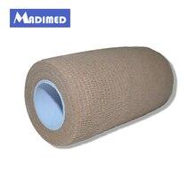 6 рулонов/лот Coban10cm x 4,5 м Нетканые эластичные самоклеющиеся адгезивные бандажный бинт нежная лента Coflex