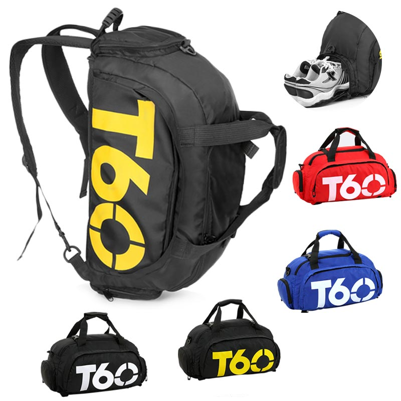 Gym Bags Men Sports Fitness Pack Big Backpack Shoulder Sport Bag Women's Handbags Travel Bags Nylon Waterproof Handbag Package