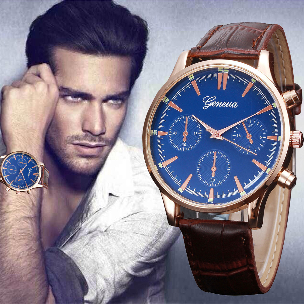 2017 New Design Luxury Brand Mens Watches Retro PU Leather Band Analog Alloy Quartz Wrist Watch Man Geneva Watch Relogio high quality 2017 new design luxury brand man watch unisex fashion pu leather band quartz analog wrist watches watch hot sale