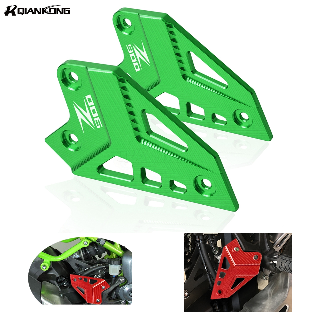 Black Motorcycle Footrest Foot Peg Protector Heel Protective Cover Guard for Z900 2017-Onwards. Kawasaki Foot Peg Protector