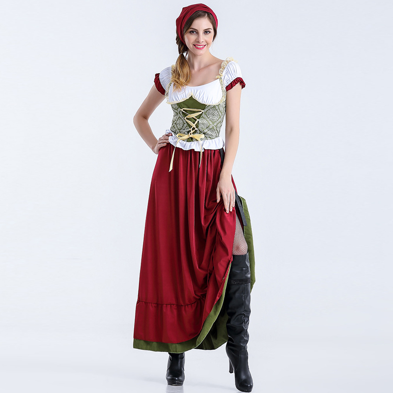 Women Dirndl Oktoberfest Maid Service Oktoberfest Costume Cosplay Fancy Party Dress Costumes Clothing
