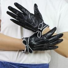 Harppihop*High Quality Genuine Leather Women Gloves Autumn W