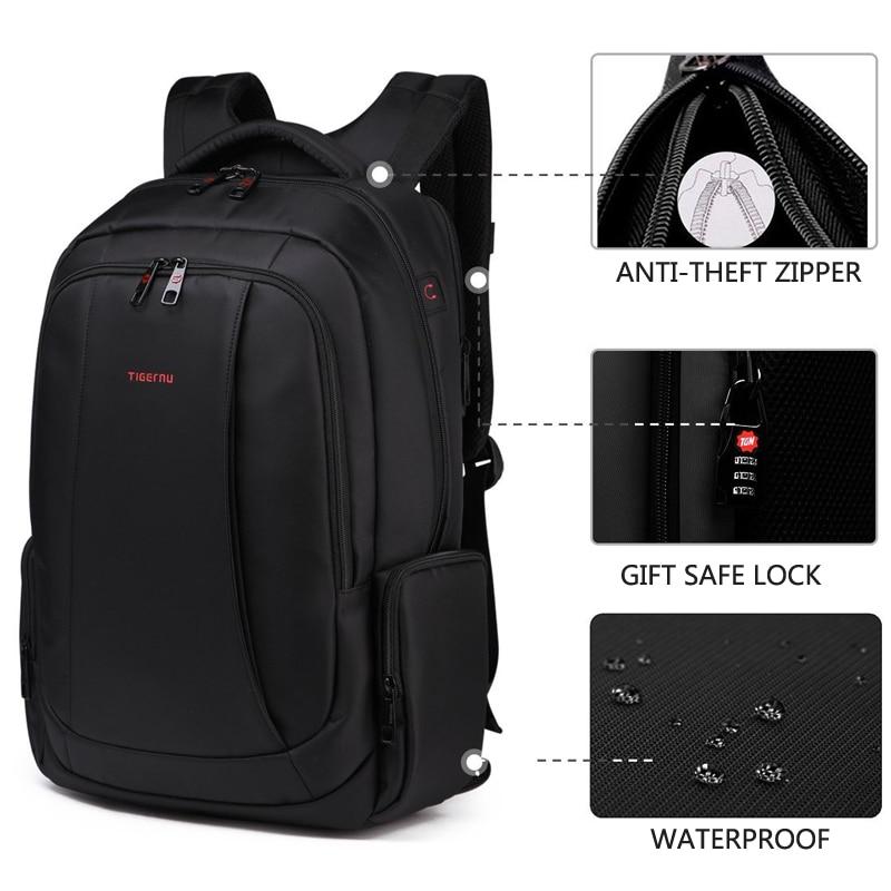 Tigernu 15.6 นิ้ว 27L USB Charging ป้องกันการโจรกรรมไนลอนกันน้ำกระเป๋าเดินทางผู้ชายกระเป๋าเป้สะพายหลังกระเป๋า Casual Business กระเป๋าเป้สะพายหลังแล็ปท็อป-ใน กระเป๋าเป้ จาก สัมภาระและกระเป๋า บน   2