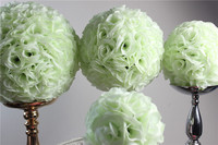 SPR 50cm hot sale wedding silk kissing ball plastic inner ivory/cream wedding decoration ball